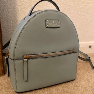 Small Kate Spade light blue backpack